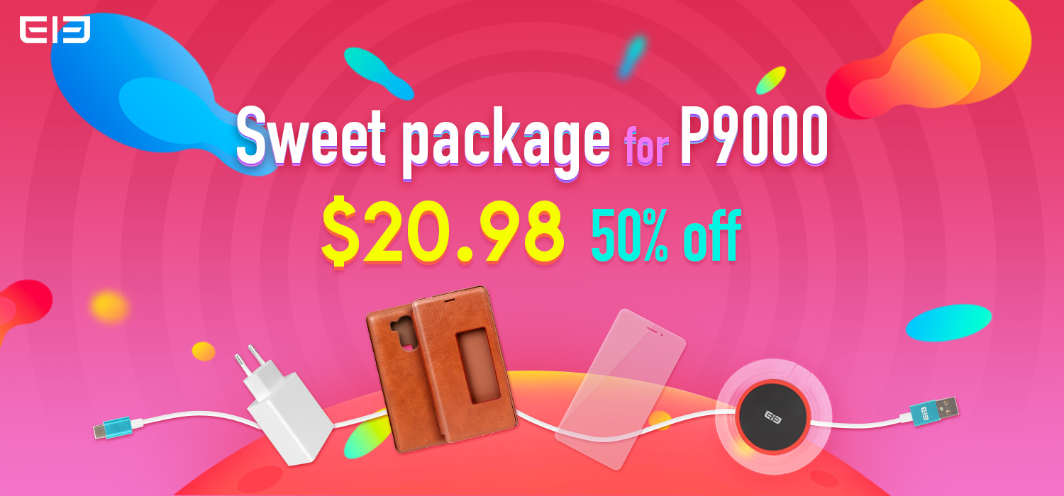 Elephone P9000 Super Sweet Package accessories available at a massive discount