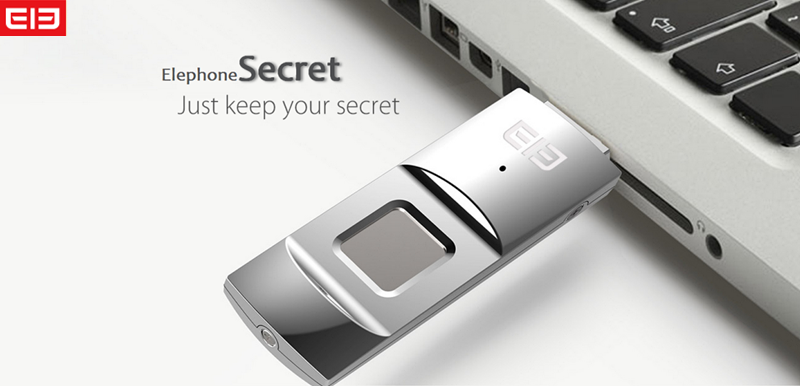 Elephone Secret with all-metal fingerprint 64GB flash drive available at an unbeatable discount